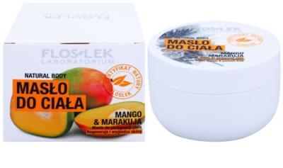 FlosLek Laboratorium Natural Body Mango & Passion Fruit unt de corp regenerator cu efect de netezire 2