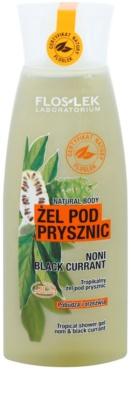 FlosLek Laboratorium Natural Body Noni & Black Currant gel de ducha estimulante
