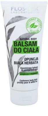 FlosLek Laboratorium Natural Body Prickly Pear & White Tea telový balzam s hydratačným účinkom