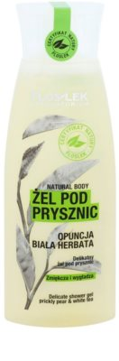 FlosLek Laboratorium Natural Body Prickly Pear & White Tea gel de duche suave com efeito alisador