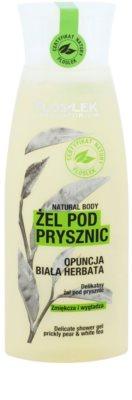 FlosLek Laboratorium Natural Body Prickly Pear & White Tea gyengéd tusfürdő gél kisimító hatással