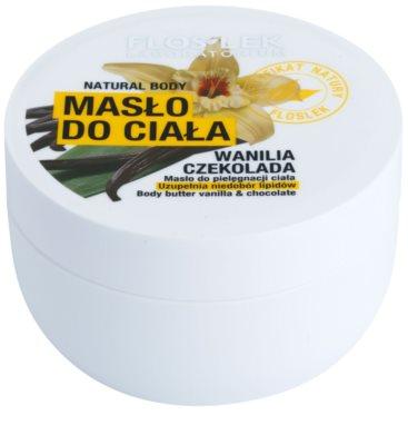 FlosLek Laboratorium Natural Body Vanilla & Chocolate manteiga corporal  com efeito regenerador