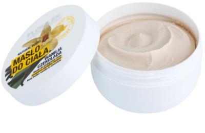 FlosLek Laboratorium Natural Body Vanilla & Chocolate Körperbutter mit regenerierender Wirkung 1