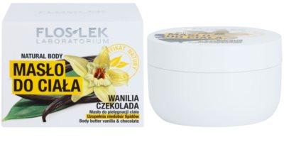 FlosLek Laboratorium Natural Body Vanilla & Chocolate telové maslo s regeneračným účinkom 2