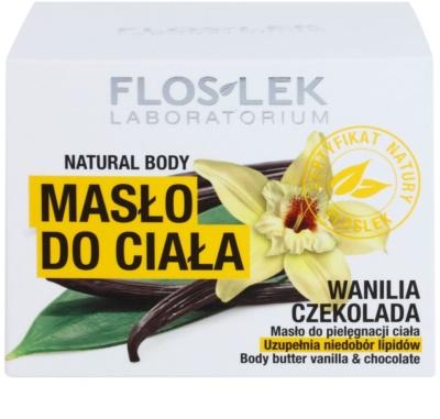 FlosLek Laboratorium Natural Body Vanilla & Chocolate Körperbutter mit regenerierender Wirkung 3
