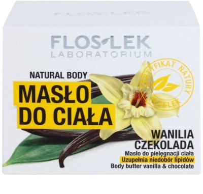 FlosLek Laboratorium Natural Body Vanilla & Chocolate telové maslo s regeneračným účinkom 3
