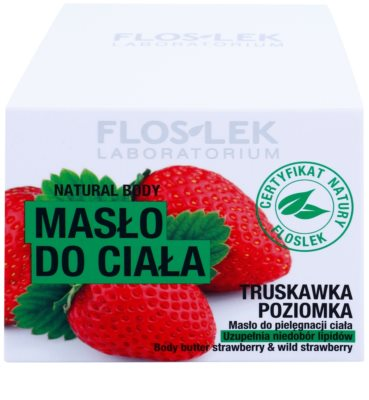 FlosLek Laboratorium Natural Body Strawberry & Wild Strawberry nährende Body-Butter 3