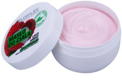 FlosLek Laboratorium Natural Body Lychee & Watermelon manteiga corporal nutritiva com efeito hidratante 2