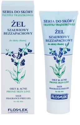 FlosLek Laboratorium Oily & Acne гель з екстрактом шавлії для шкіри з недоліками 1