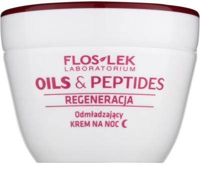 FlosLek Laboratorium Oils & Peptides Regeneration 60+ regenerační noční krém s omlazujícím účinkem