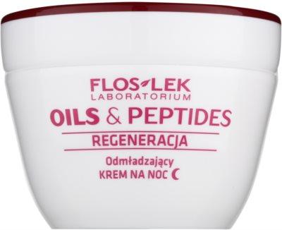 FlosLek Laboratorium Oils & Peptides Regeneration 60+ відновлюючий нічний крем з омолоджуючим ефектом