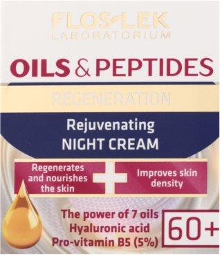FlosLek Laboratorium Oils & Peptides Regeneration 60+ regenerační noční krém s omlazujícím účinkem 2