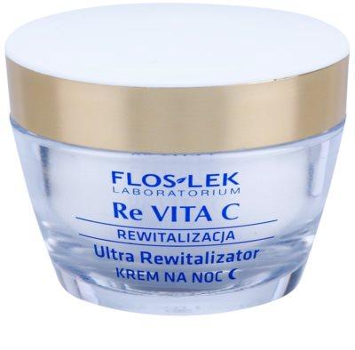 FlosLek Laboratorium Re Vita C 40+ crema de noche revitalizante intensa