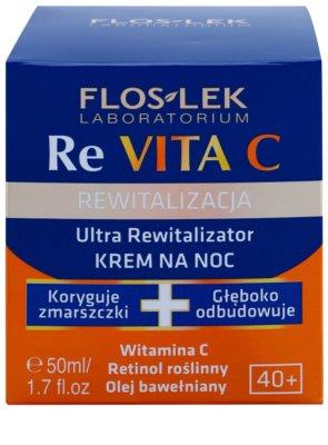 FlosLek Laboratorium Re Vita C 40+ intensive Nachtcreme zur Revitalisierung der Haut 2