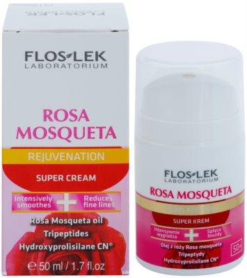 FlosLek Laboratorium Rosa Mosqueta Rejuvenation 50+ crema intens hidratanta cu efect antirid 1