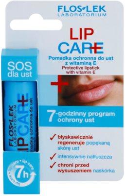 FlosLek Laboratorium Lip Care SOS schützendes Lippenbalsam mit Vitamin E 4