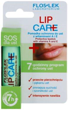 FlosLek Laboratorium Lip Care SOS zaščitni balzam za ustnice z vitaminoma A in E 3