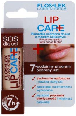 FlosLek Laboratorium Lip Care SOS bálsamo protector labial  con manteca de cacao 3