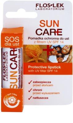 FlosLek Laboratorium Sun Care bálsamo protector labial  SPF 14 3