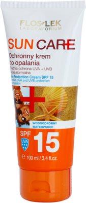 FlosLek Laboratorium Sun Care crema bronceadora SPF 15