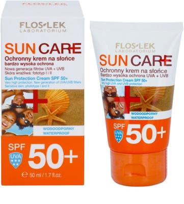 FlosLek Laboratorium Sun Care crema protectora SPF 50+ 1