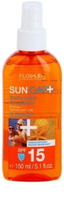 FlosLek Laboratorium Sun Care Spray de ulei uscat de bronzat SPF 15