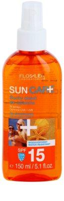 FlosLek Laboratorium Sun Care suho olje za sončenje v pršilu SPF 15