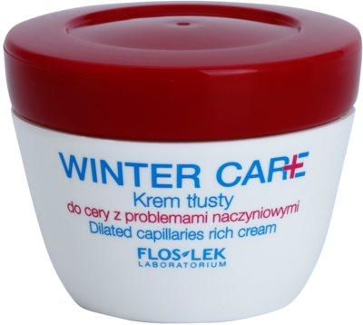 FlosLek Laboratorium Winter Care богат защитен крем за чувствителна кожа със склонност към почервеняване