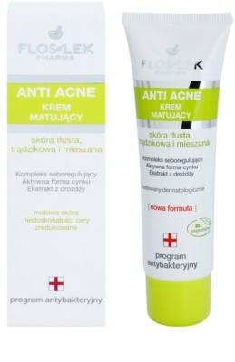 FlosLek Pharma Anti Acne mattierende Creme für Haut mit kleinen Makeln 1