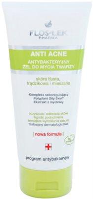 FlosLek Pharma Anti Acne gel de curatare antibacterial fara parabeni