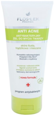 FlosLek Pharma Anti Acne gel de limpeza antibacteriano sem parabenos