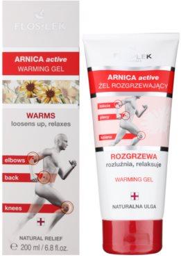 FlosLek Pharma Arnica Active wärmendes Gel zum Lockern von Muskeln und Gelenken 1