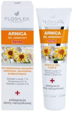 FlosLek Pharma Arnica Forte nyugtató gél a pirosodásra hajlamos arcra 1