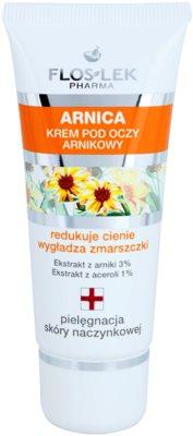 FlosLek Pharma Arnica krema za predel okoli oči proti oteklinam in gubam