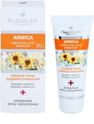 FlosLek Pharma Arnica crema de ojos contra las ojeras y arrugas 1