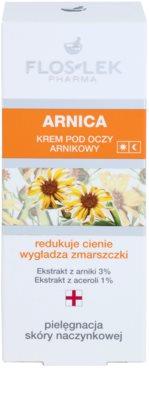 FlosLek Pharma Arnica crema de ojos contra las ojeras y arrugas 2