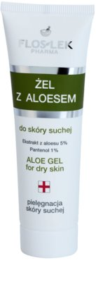 FlosLek Pharma Dry Skin Aloe Vera регенериращ гел за лице и деколте