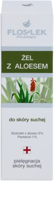FlosLek Pharma Dry Skin Aloe Vera regenerierendes Gel Für Gesicht und Dekolleté 2