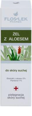 FlosLek Pharma Dry Skin Aloe Vera регенериращ гел за лице и деколте 2