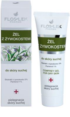 FlosLek Pharma Dry Skin Comfrey zdravilni gel za obraz in telo 1