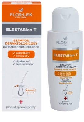 FlosLek Pharma ElestaBion T dermatologický šampon proti mastným lupům 1