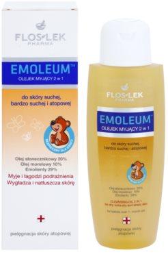 FlosLek Pharma Emoleum tusoló olaj érzékeny bőrre 2 az 1-ben 1
