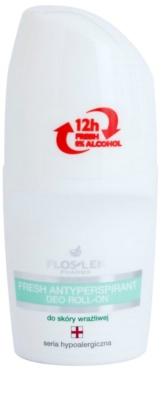 FlosLek Pharma Hypoallergic Line erfrischender Antitranspirant-Roller ohne Alkohol