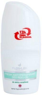 FlosLek Pharma Hypoallergic Line frissítő izzadásgátló roll-on alkoholmentes