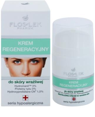 FlosLek Pharma Hypoallergic Line regenerierende Creme für empfindliche Haut 1