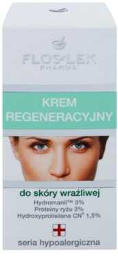 FlosLek Pharma Hypoallergic Line krem regenerujący dla cery wrażliwej 2