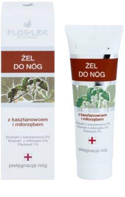 FlosLek Pharma Leg Care Horse Chestnut & Ginkgo Biloba hladilni gel za utrujene noge 1