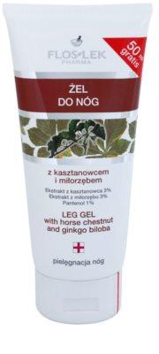 FlosLek Pharma Leg Care Horse Chestnut & Ginkgo Biloba kühlendes Gel für erschöpfte Füße