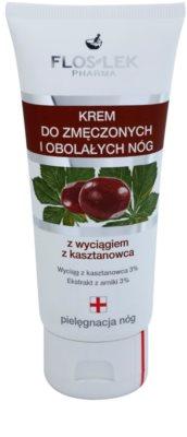 FlosLek Pharma Leg Care Horse Chestnut crema supliment alimentar pentru combataterea imflamarii picioarelor