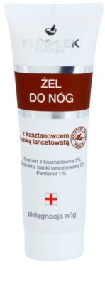 FlosLek Pharma Leg Care Horse Chestnut & Plantain gel hidratante para os pés cansados